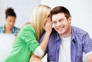 29244298 - education concept - male and female students talking at school or college
